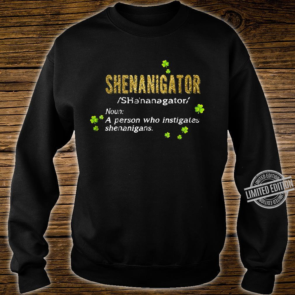 Green Leprechauns Shenanigans St Patricks Day Shenanigator Shirt sweater