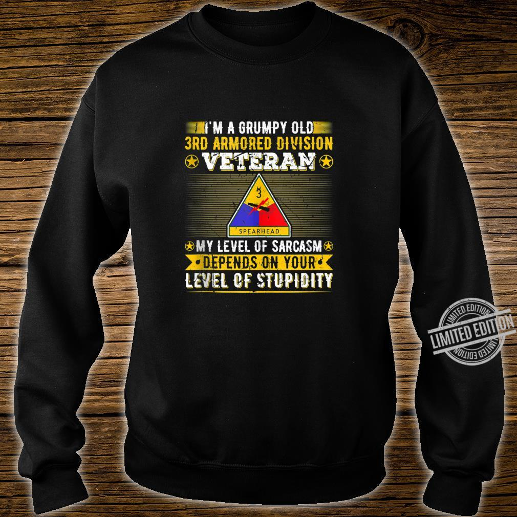 Grumpy Old 3rd Armored Division Veteran Military Army Shirt sweater