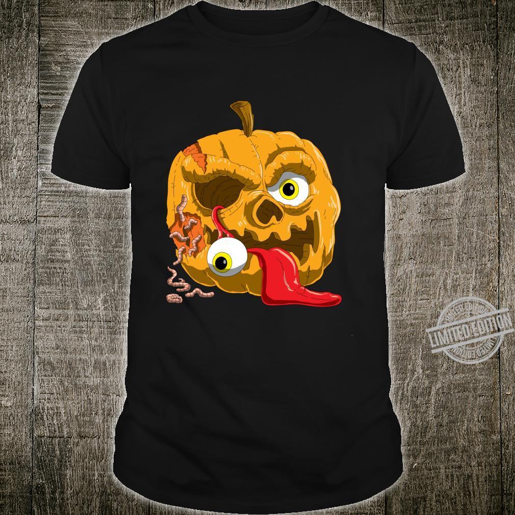 Gruseliges Zombie Kürbis für Horror Fans und Halloween Langarmshirt Shirt