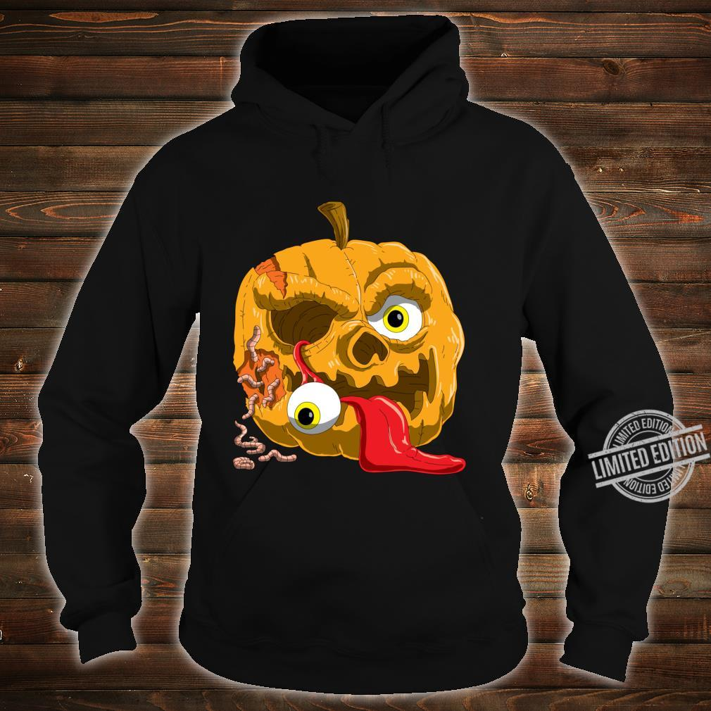 Gruseliges Zombie Kürbis für Horror Fans und Halloween Langarmshirt Shirt hoodie