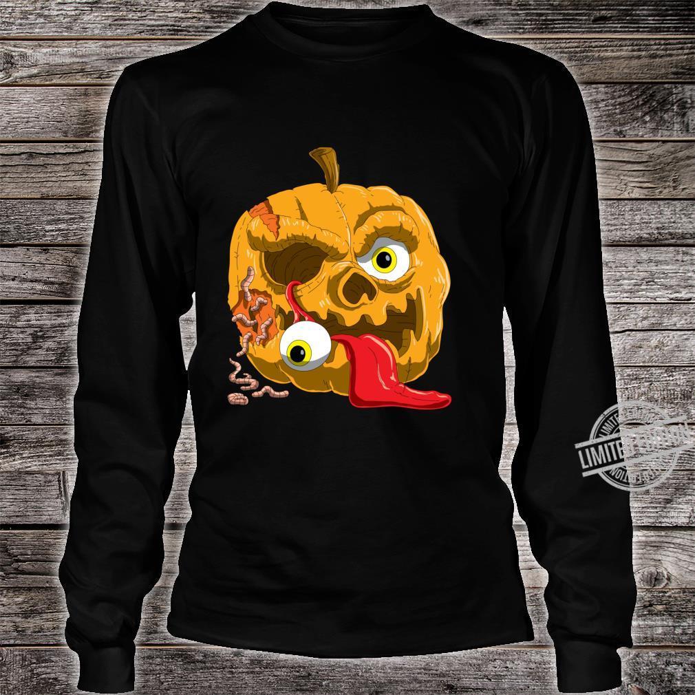 Gruseliges Zombie Kürbis für Horror Fans und Halloween Langarmshirt Shirt long sleeved