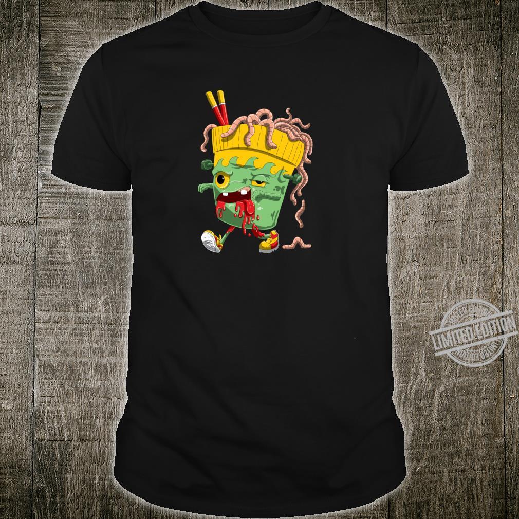 Gruseliges Zombie Ramen für Horror Fans und Halloween Shirt