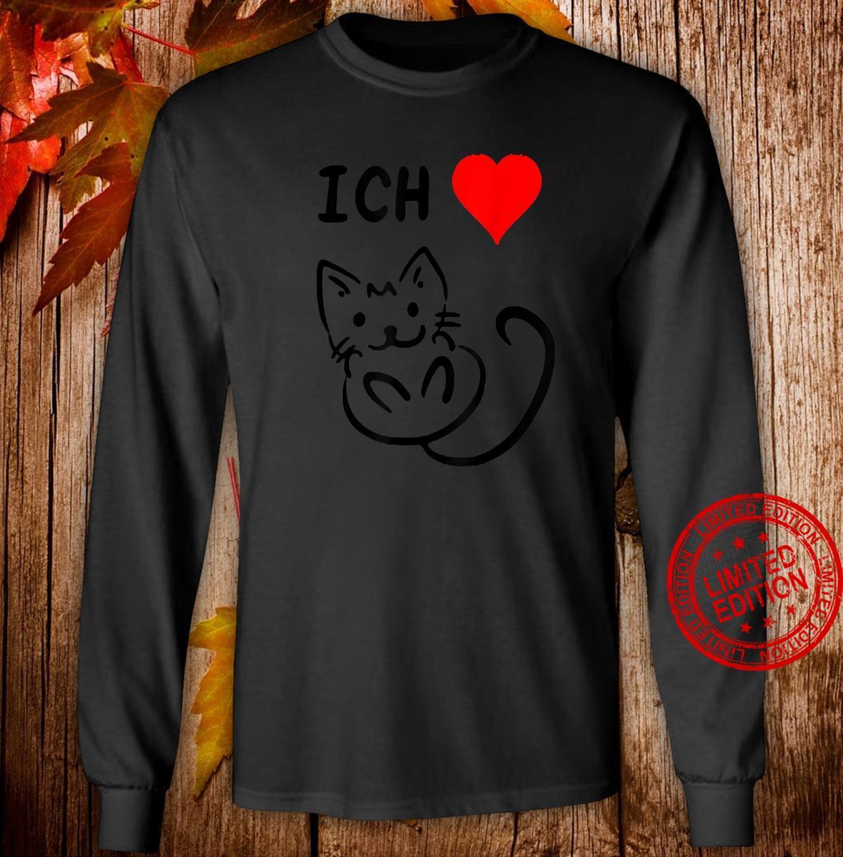 Ich liebe Katzen Katzen Geschenkidee Katzen Shirt long sleeved