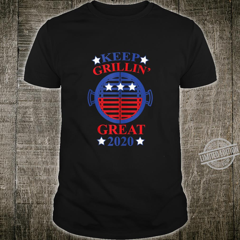 Keep Grillin' Great 2020, Cooks Support Trump Republican Shirt