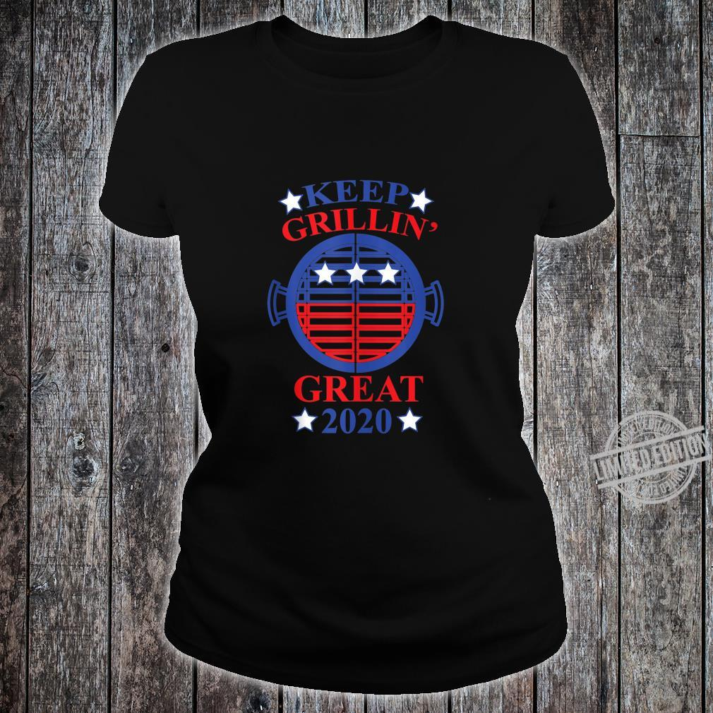Keep Grillin' Great 2020, Cooks Support Trump Republican Shirt ladies tee