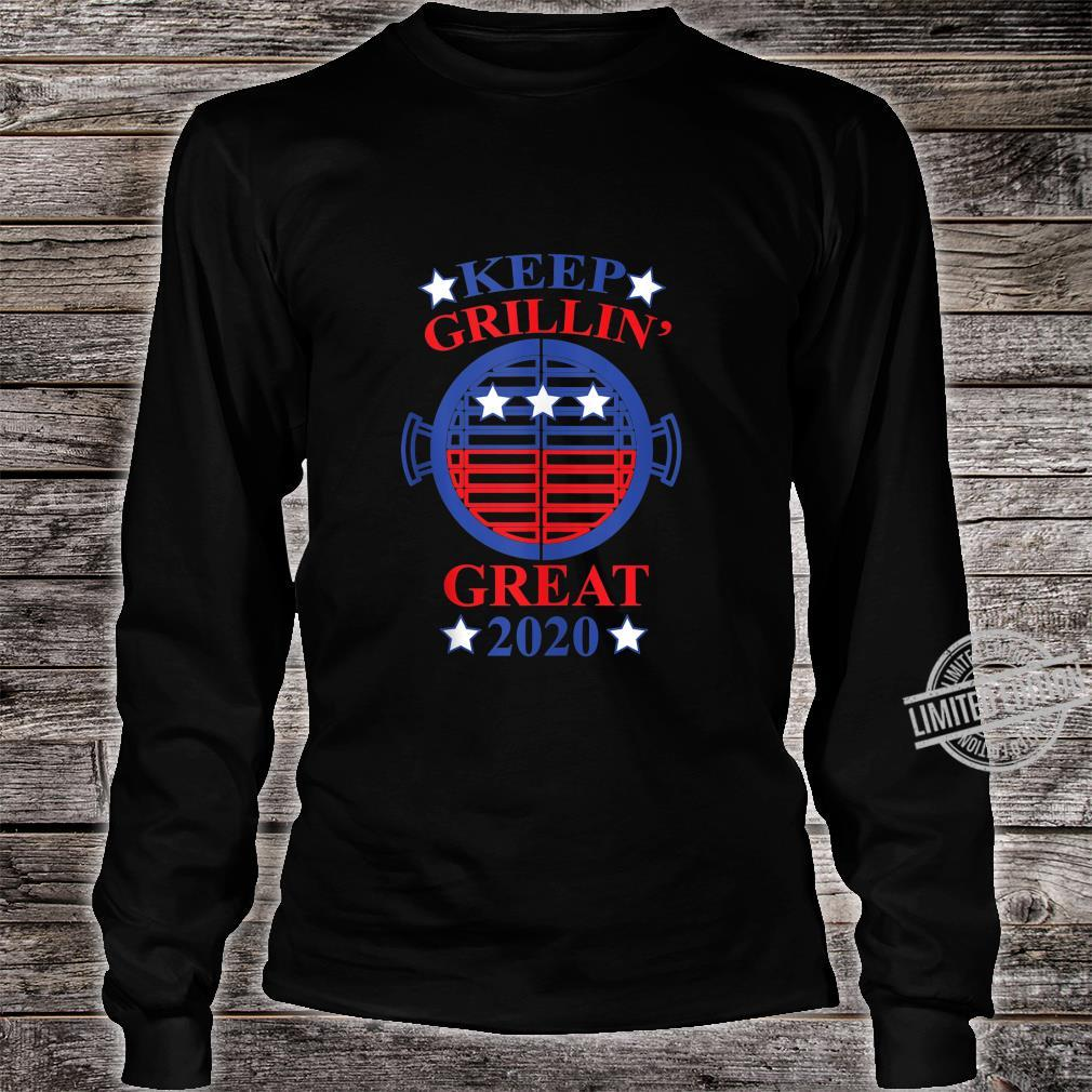 Keep Grillin' Great 2020, Cooks Support Trump Republican Shirt long sleeved