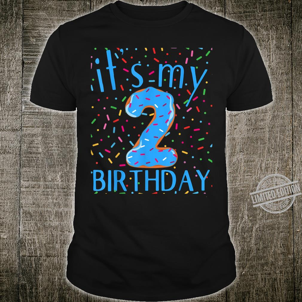 Kid Sweet donut It's My 2nd Birthday2 Yrs Old Customer Shirt