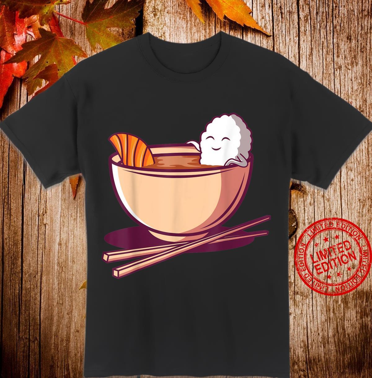 Lustiges japanisches Essen Japan Reis Lachs Miso Suppe Maki Shirt