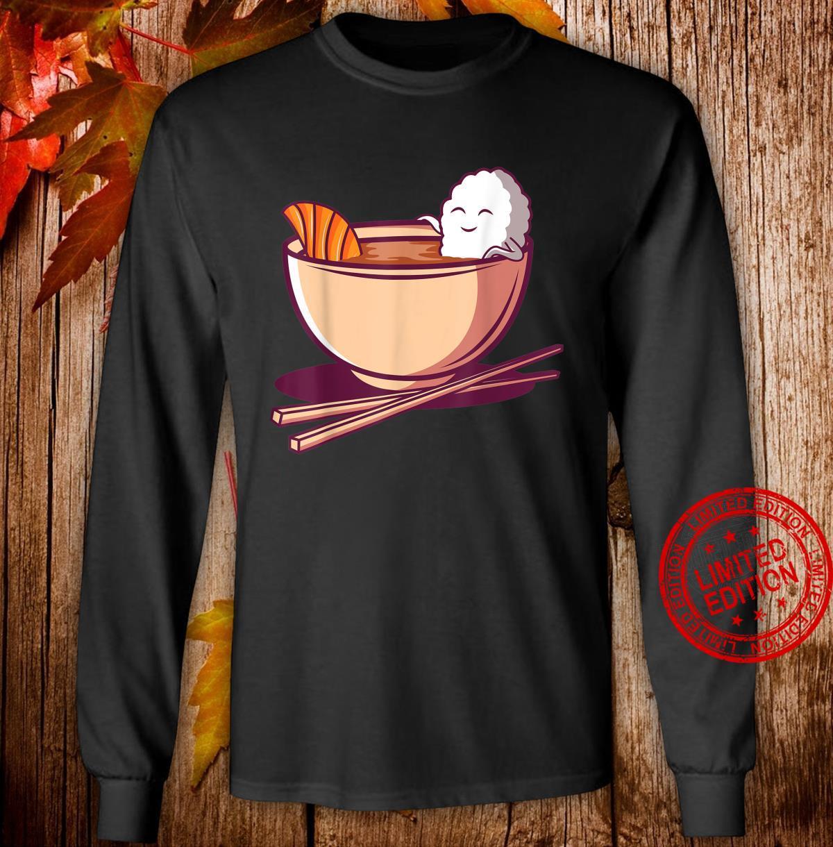 Lustiges japanisches Essen Japan Reis Lachs Miso Suppe Maki Shirt long sleeved