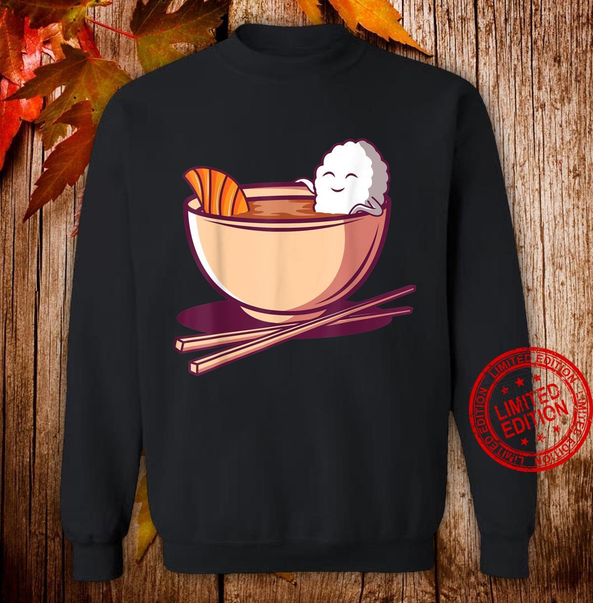 Lustiges japanisches Essen Japan Reis Lachs Miso Suppe Maki Shirt sweater