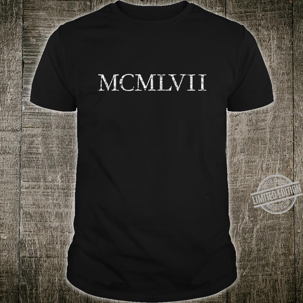 MCMLVII Vintage White 1957 Birthday Shirt