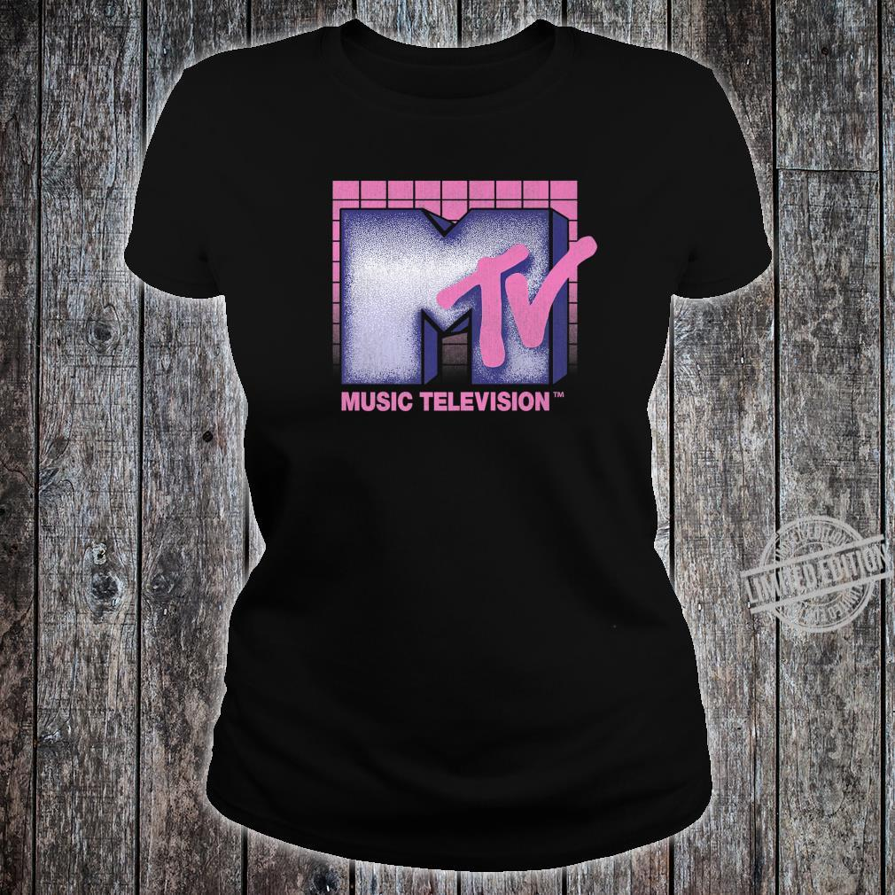 MTV Music Television 80's Grid Logo Shirt ladies tee