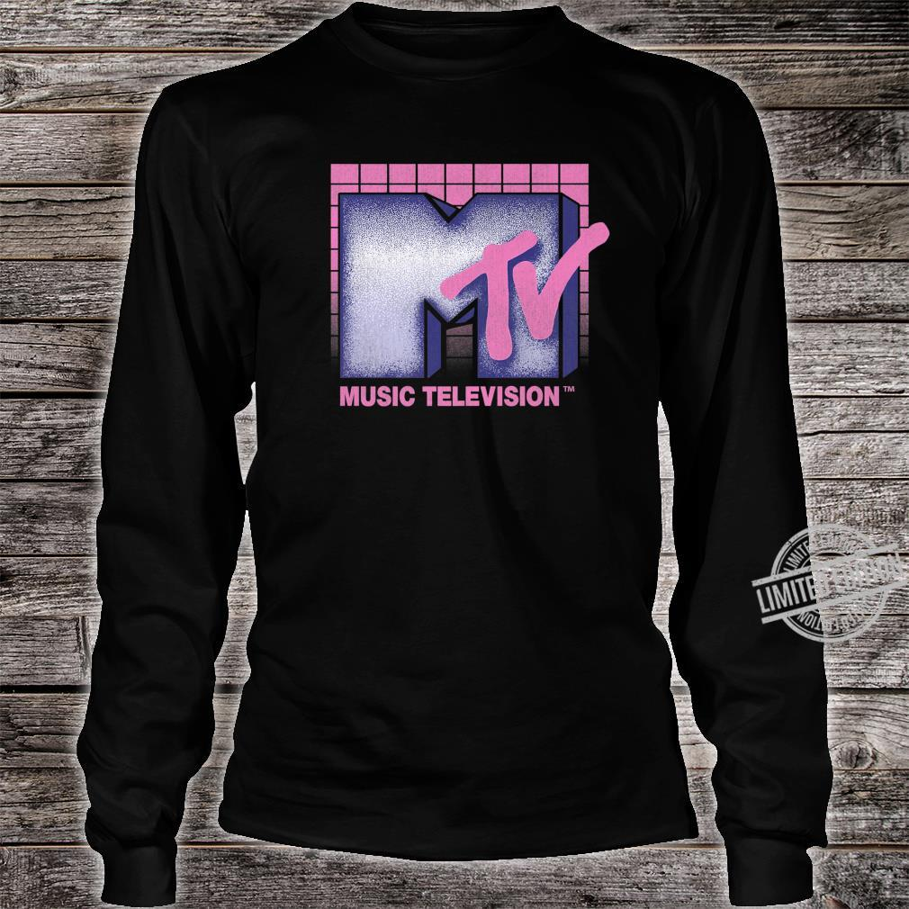 MTV Music Television 80's Grid Logo Shirt long sleeved