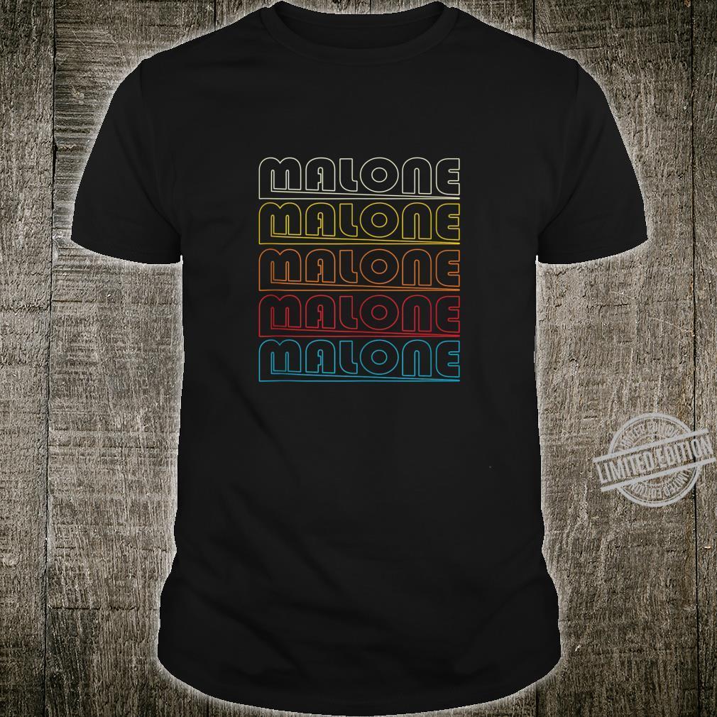 Malone Retro Style Name Shirt