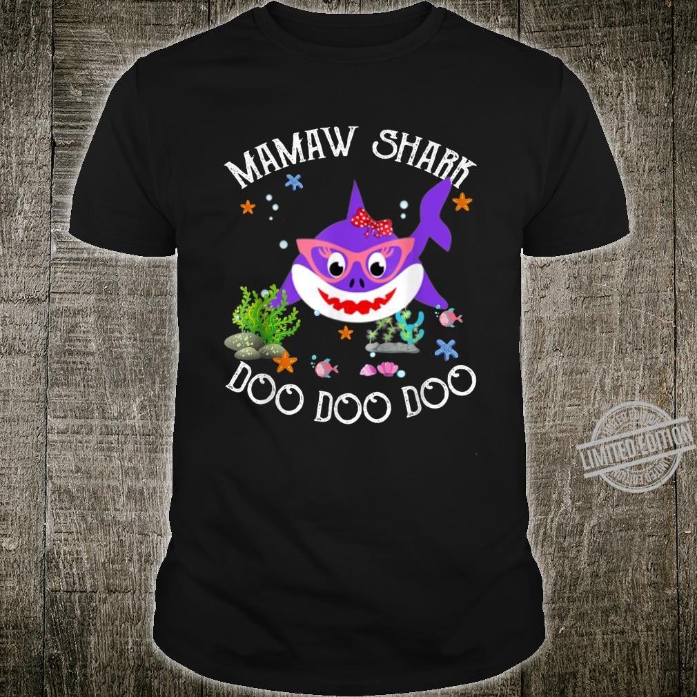 Mamaw Shark For Mom Shark Baby Cute Matching Family Shirt