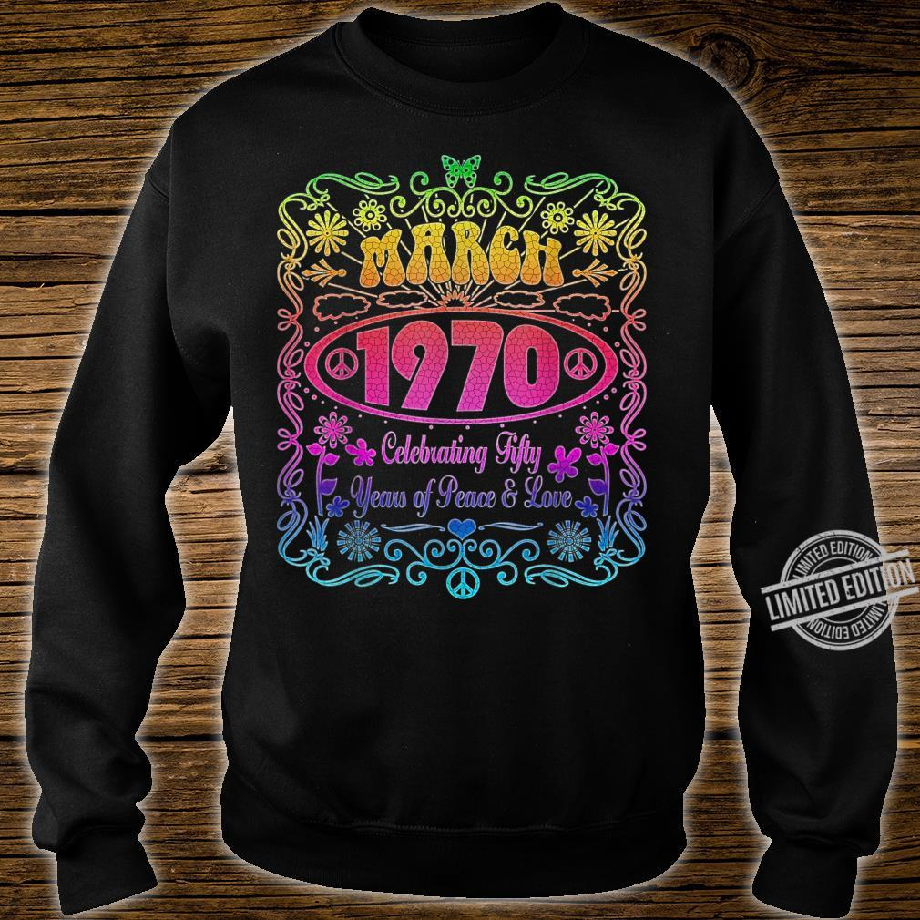March 1970 50th Birthday Music Festival Hippie Retro Shirt sweater