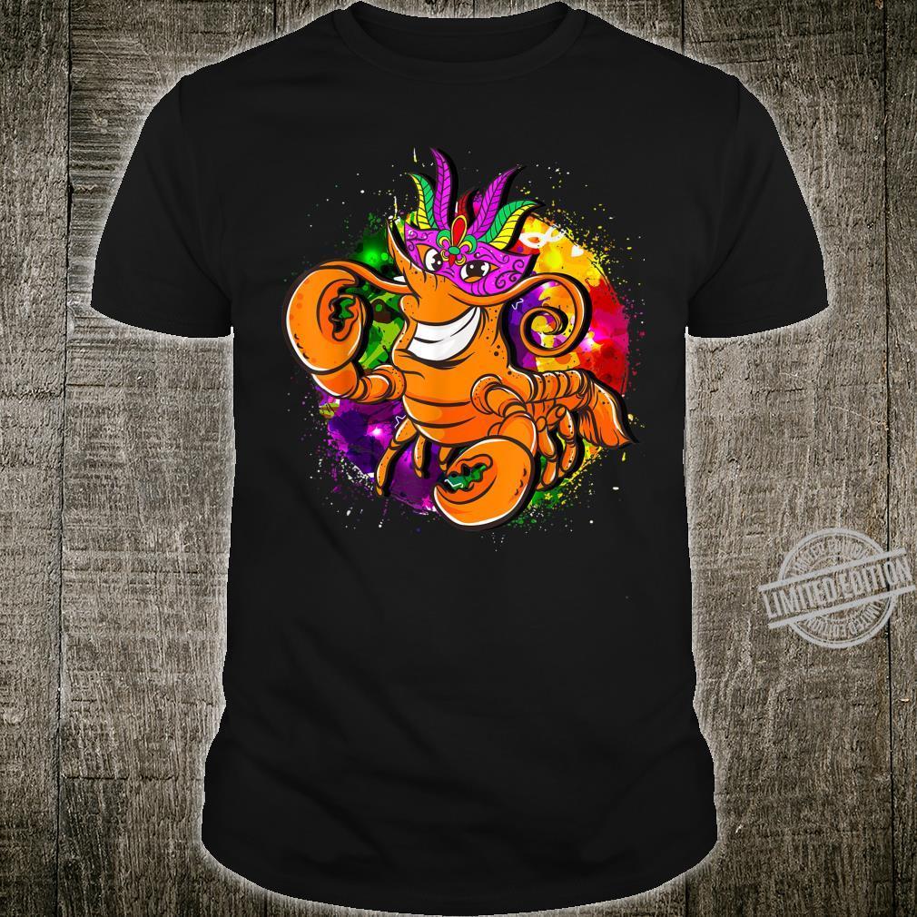 Mardi Gras Crawfish Beads Party Shirt