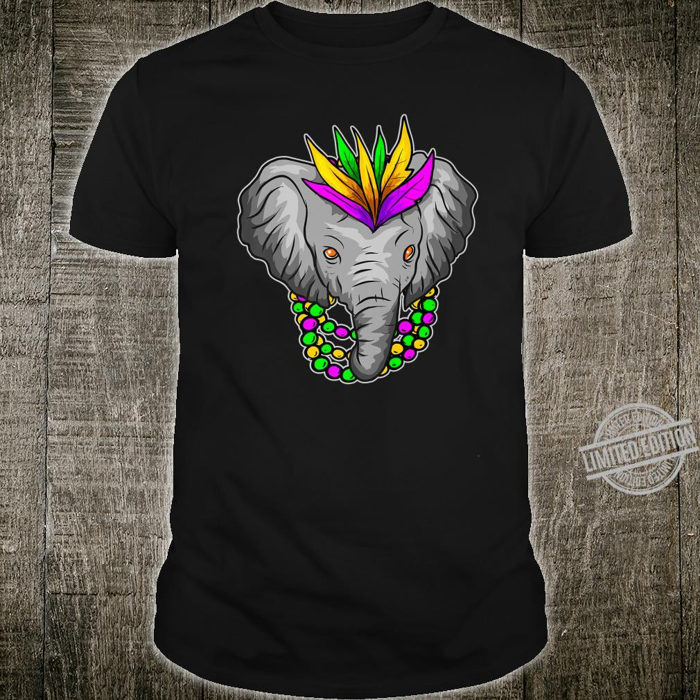 Mardi Gras Elephant Beads Shirt
