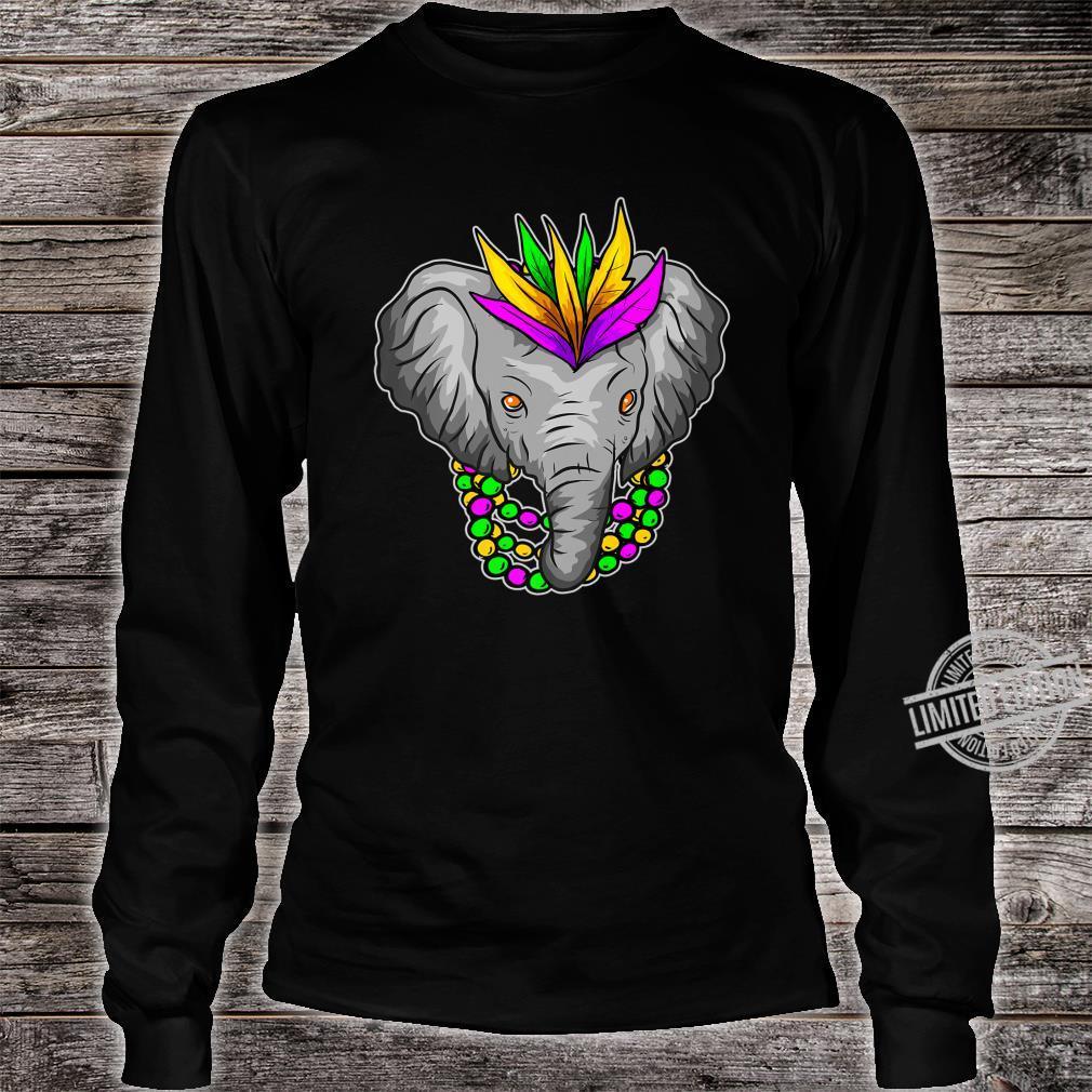 Mardi Gras Elephant Beads Shirt long sleeved