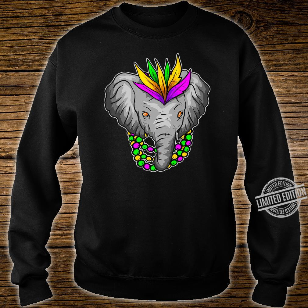 Mardi Gras Elephant Beads Shirt sweater