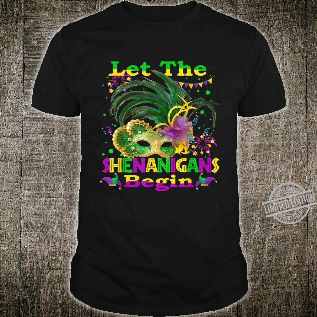 Mardi Gras Let The Shenanigans Begin Mask Shirt