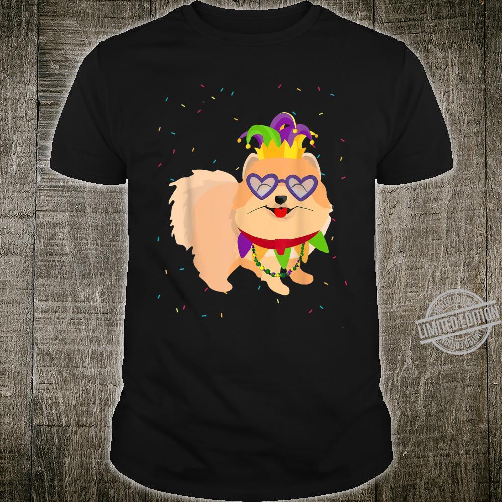 Mardi Gras Pomeranian Dog Shirt
