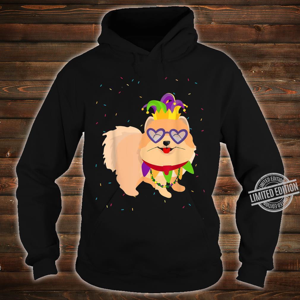 Mardi Gras Pomeranian Dog Shirt hoodie