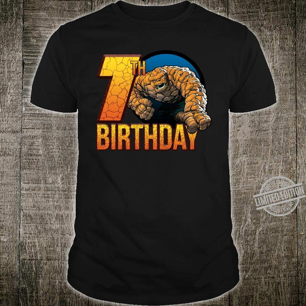 Marvel Fantastic Four The Thing 7th Birthday Shirt