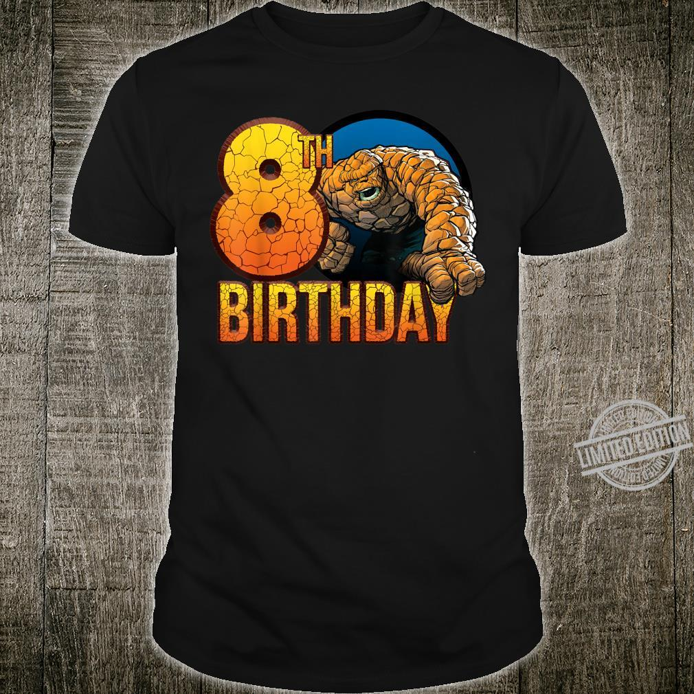 Marvel Fantastic Four The Thing 8th Birthday Shirt
