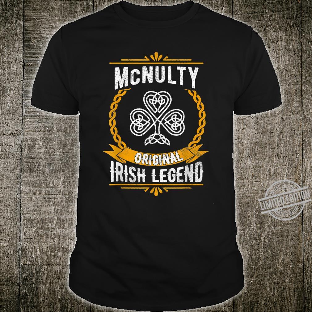 McNulty Irish Name Vintage Ireland Family Surname Shirt