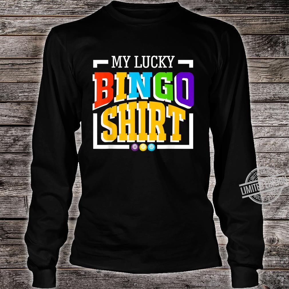 Mein GlücksBingoShirt Frauen NeuheitBingo Lustig Shirt long sleeved