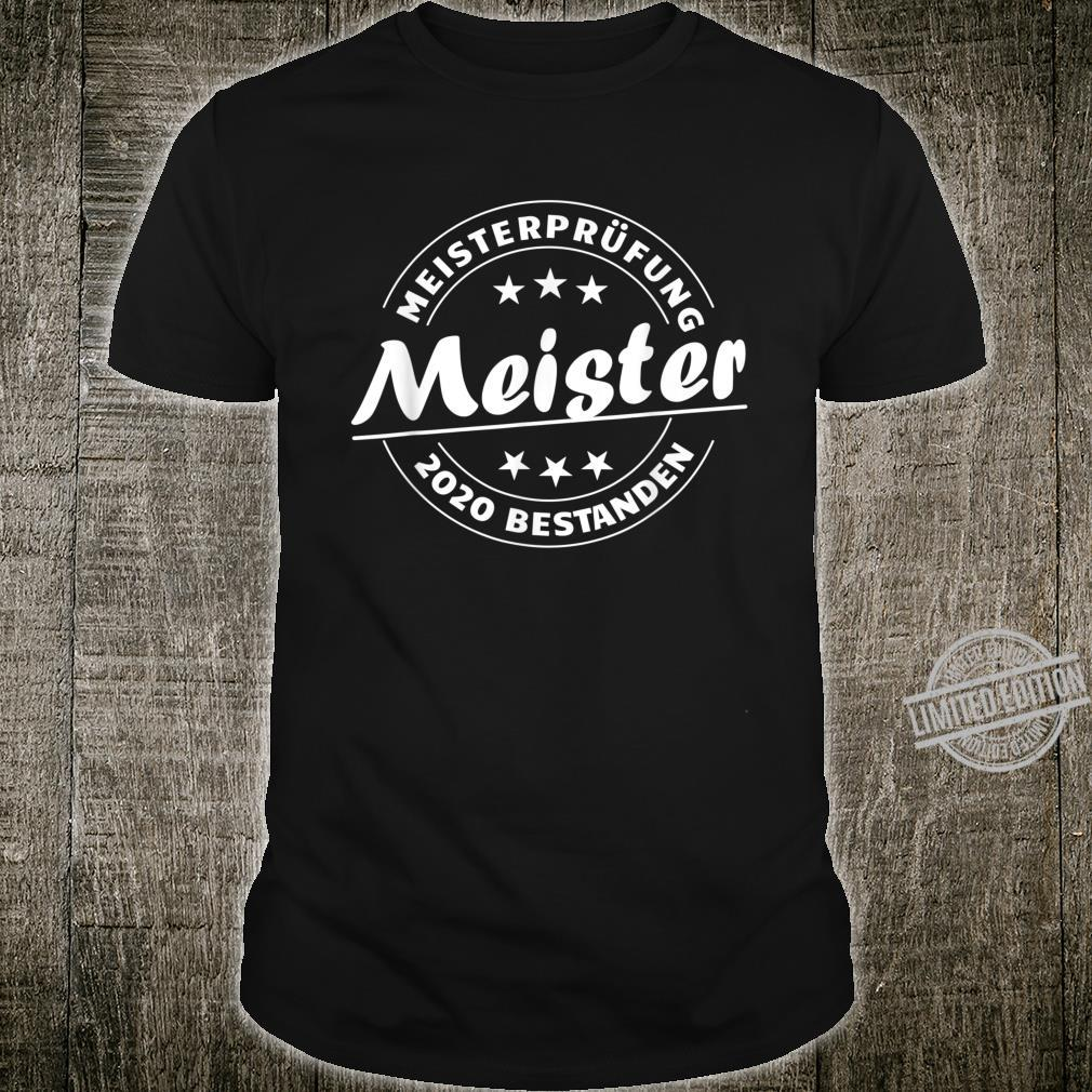 Meistersprüf2020 Passed for the MeisterTitel Shirt