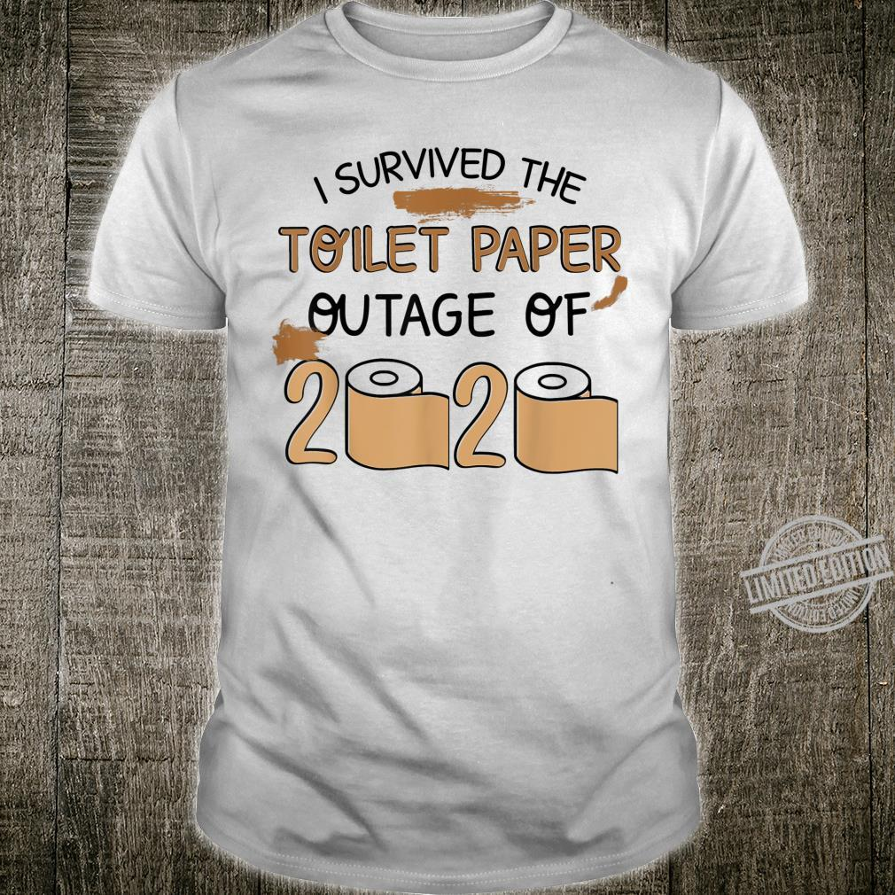 Mens I Survived The Toilet Paper Outage Shirt