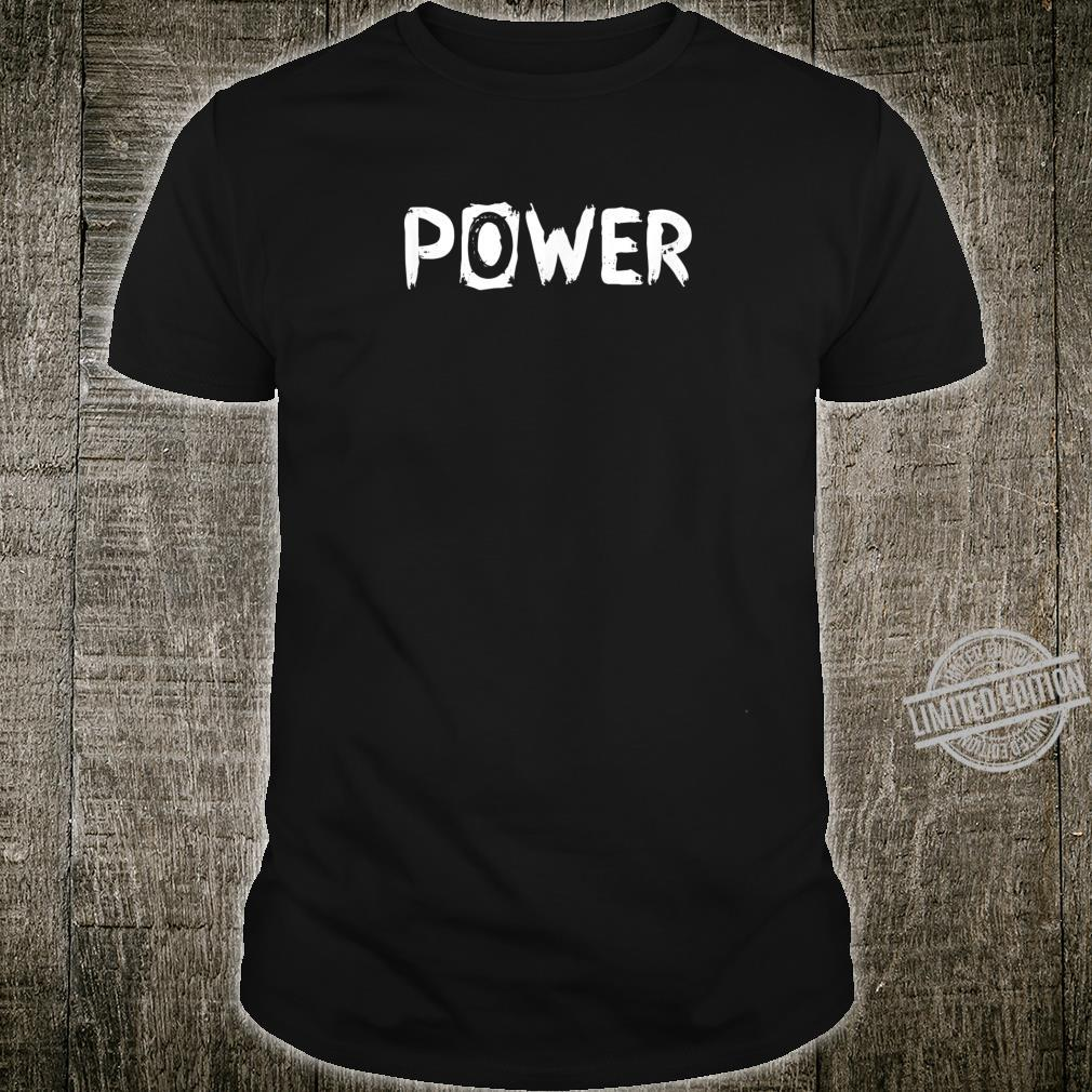 Mens POWER Gym Fitness Workout Motivational Design F189 Shirt