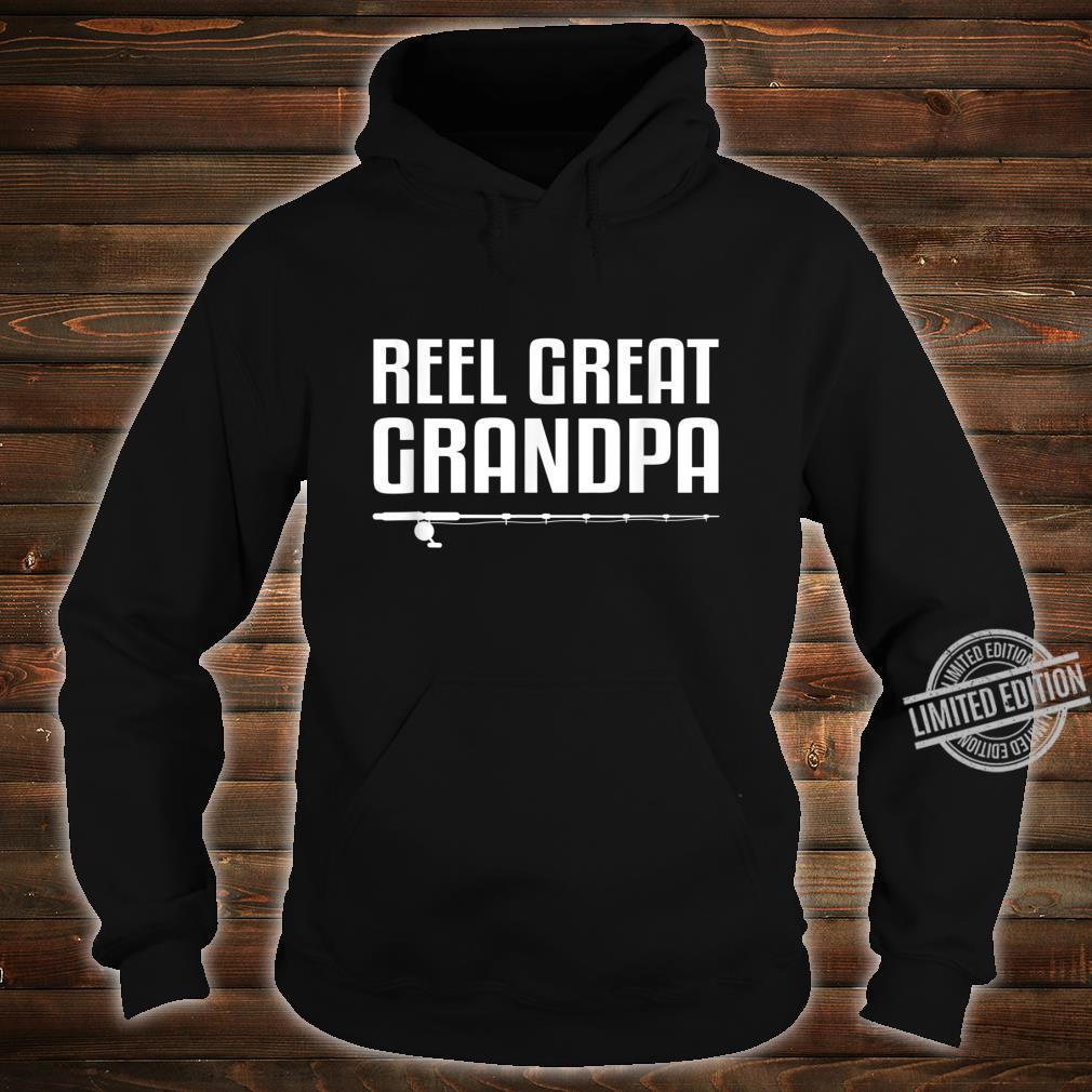 Mens Reel Great Grandpa Shirt Fathers Day Fishing Shirt hoodie