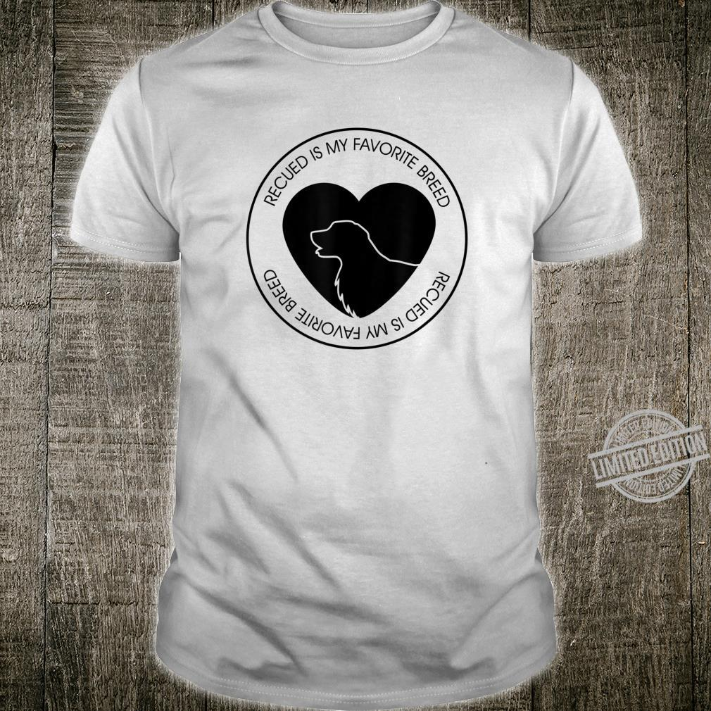 Mens Rescued Is My Favorite Breed Dog Puppy Shirt