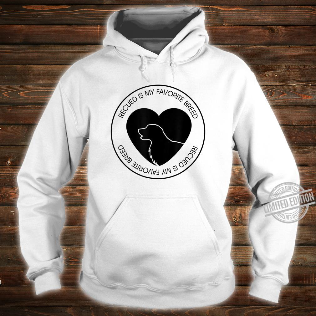 Mens Rescued Is My Favorite Breed Dog Puppy Shirt hoodie