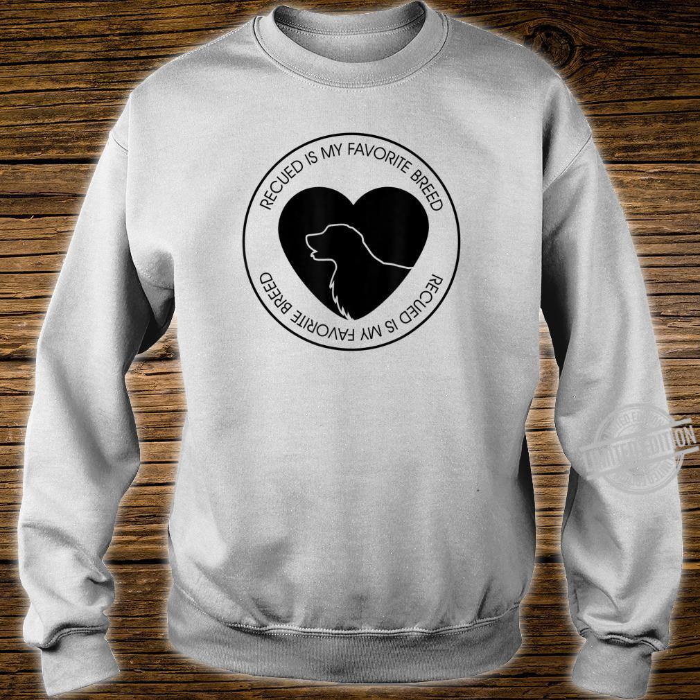Mens Rescued Is My Favorite Breed Dog Puppy Shirt sweater
