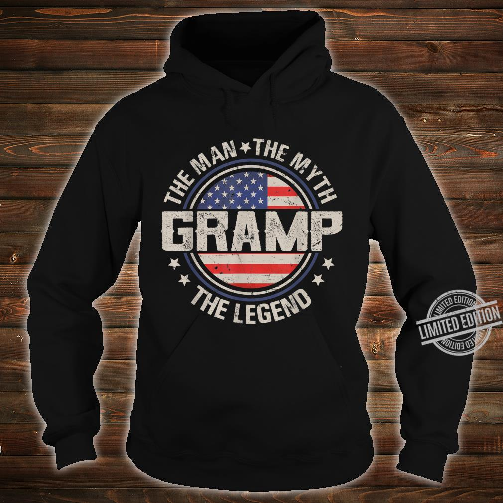 Mens Retro Fathers Day Gramp The Man The Myth The Legend Shirt hoodie