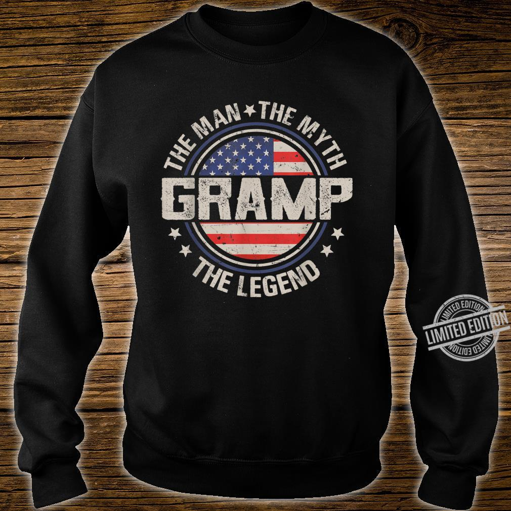 Mens Retro Fathers Day Gramp The Man The Myth The Legend Shirt sweater