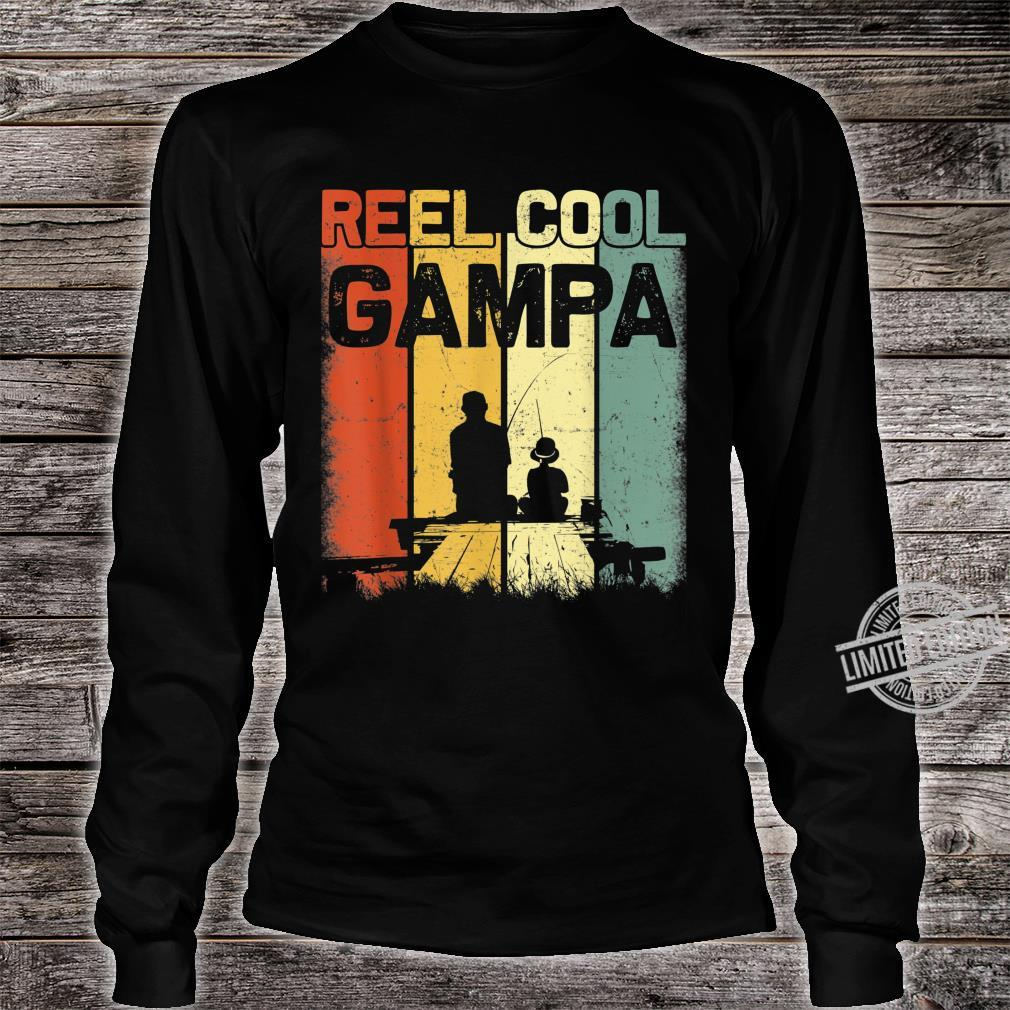 Mens Retro Reel Cool Gampa Fishing Vintage Fathers Day Shirt long sleeved