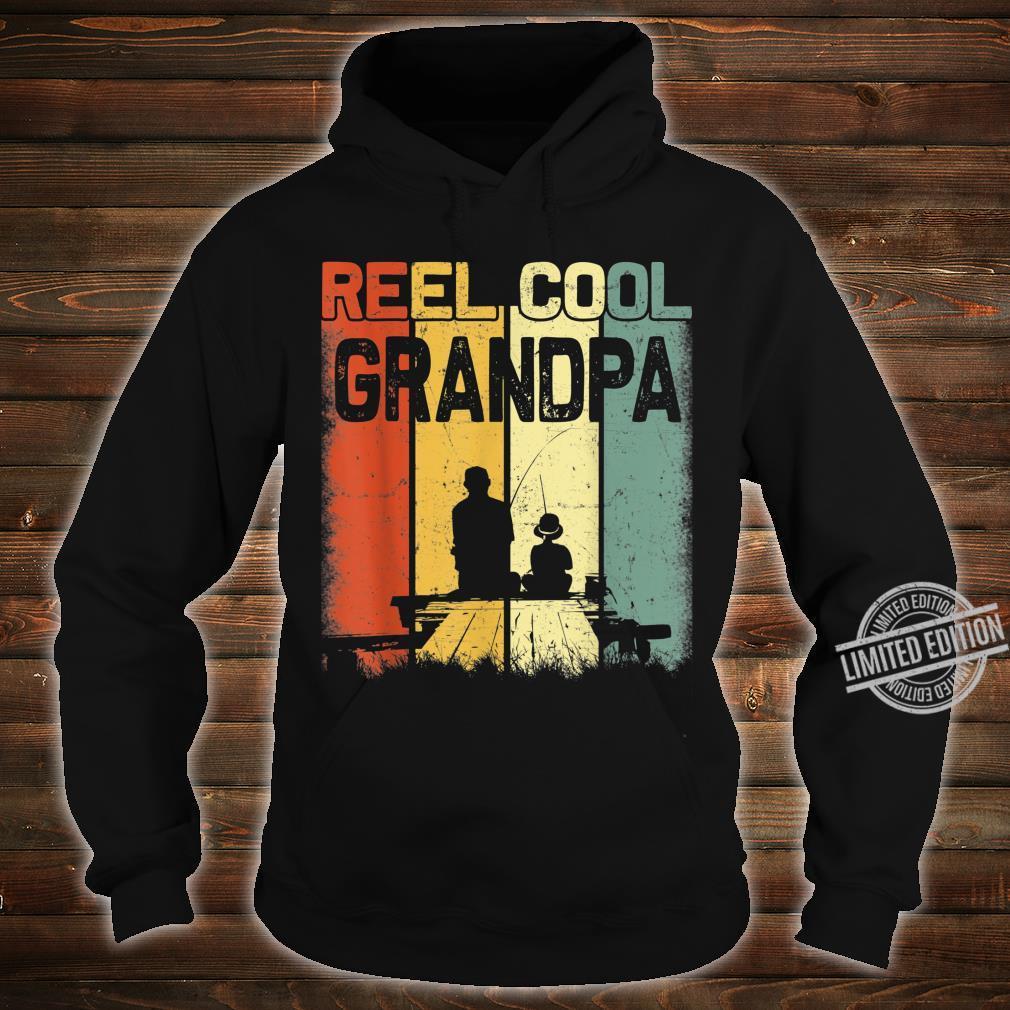 Mens Retro Reel Cool Grandpa Fishing Vintage Fathers Day Shirt hoodie
