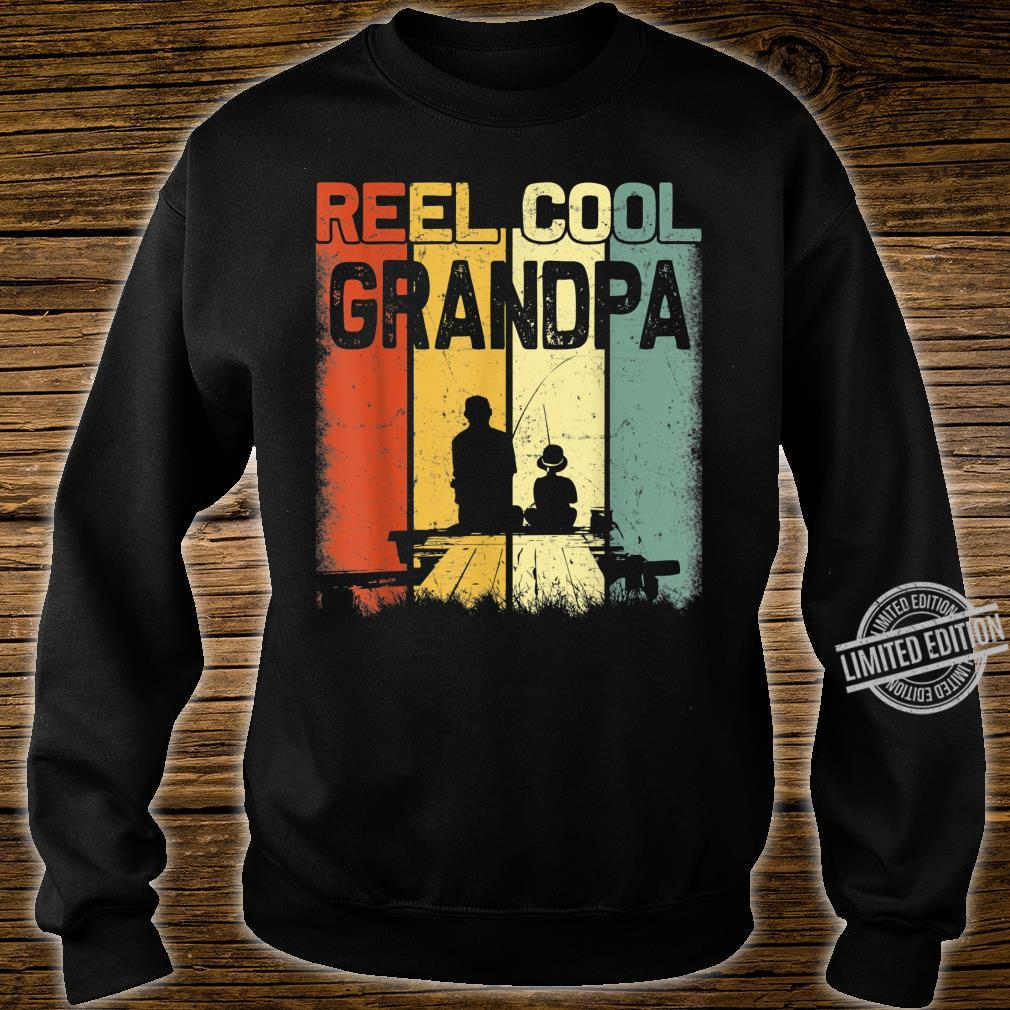 Mens Retro Reel Cool Grandpa Fishing Vintage Fathers Day Shirt sweater