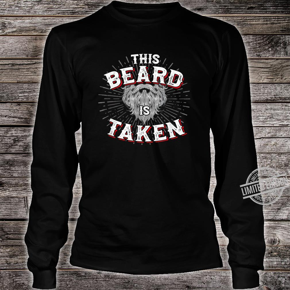 Mens This Beard Is Taken Vintage For Bearded Valentines Shirt long sleeved