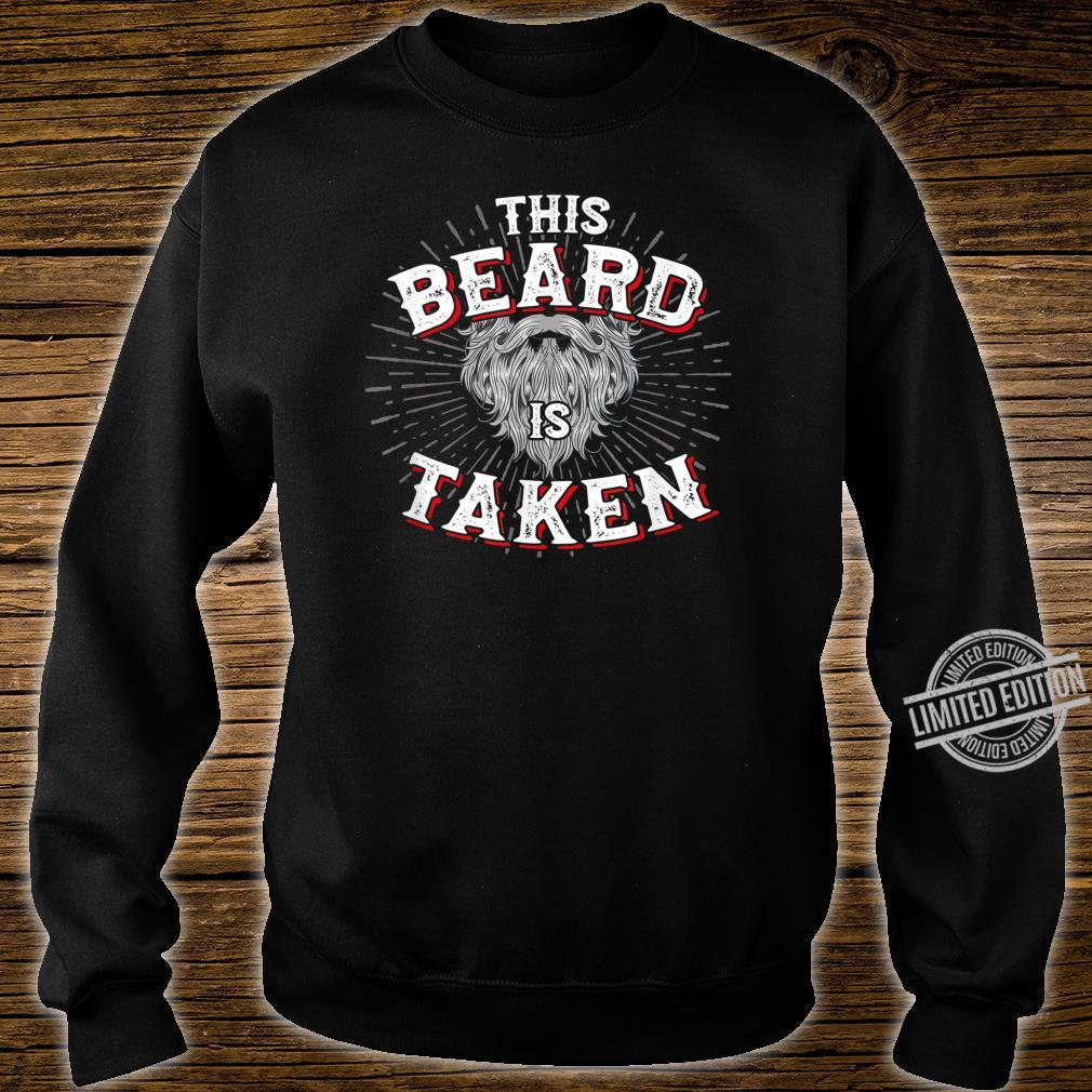 Mens This Beard Is Taken Vintage For Bearded Valentines Shirt sweater