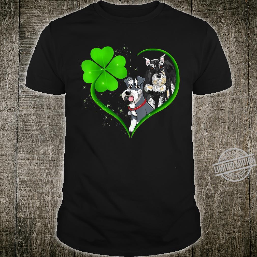 Miniature Schnauzer Heart Shamrock St Patrick's Day Shirt