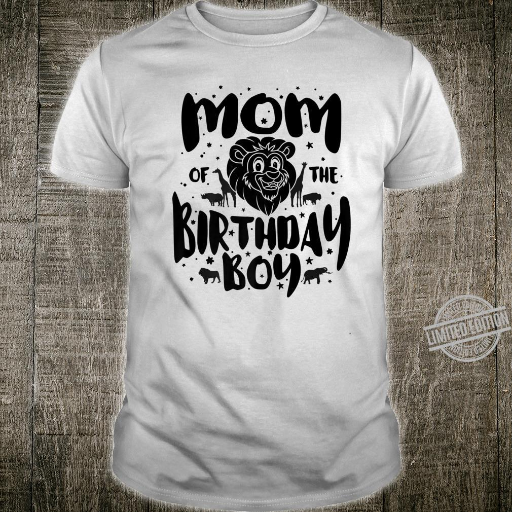 Mom of the Birthday Boy cute safari family matching Shirt