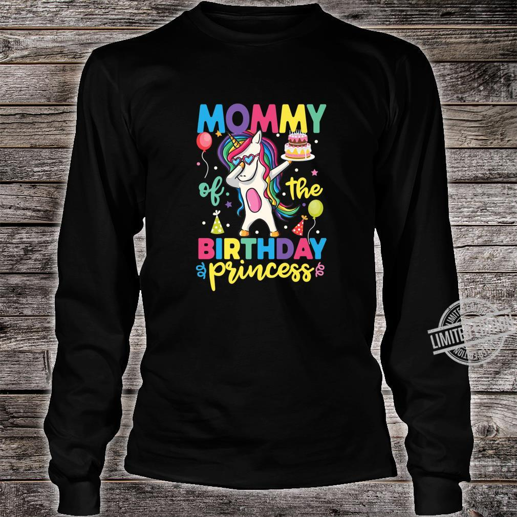 Mommy of the Birthday Princess Shirt Unicorn Girl Shirt long sleeved