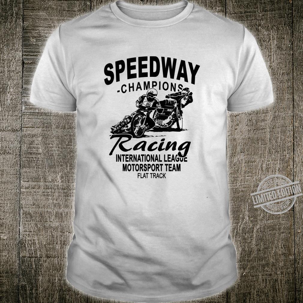 Motorcycle Speedway Racer Flat Track Shirt
