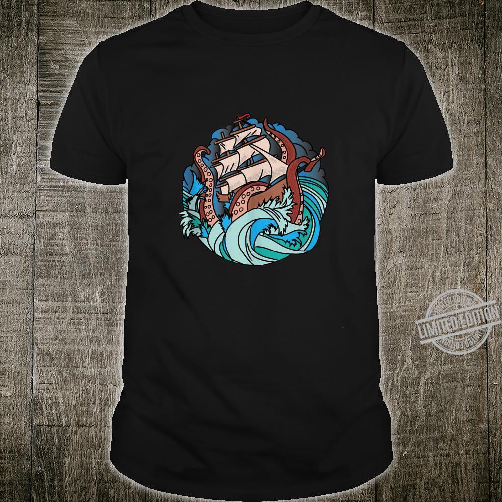 Mythology Cute Octopus Vintage Sea Monster Kraken Cthulhu Shirt